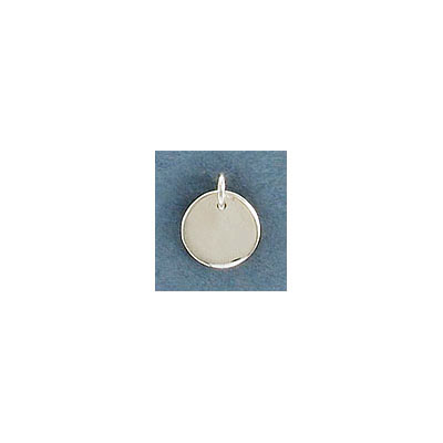 Sterling silver .925, 8mm, round, blank for engraving