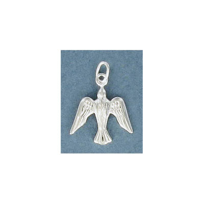 Sterling silver .925 pendant, 14mm, dove charm