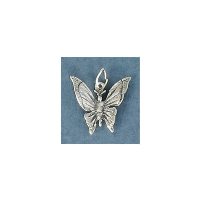 Sterling silver .925 pendant, 14mm, butterfly charm