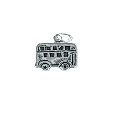 Sterling silver .925 pendant, 13.25x9mm, bus charm