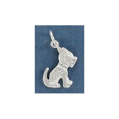 Sterling silver .925 pendant, 17mm, dog charm