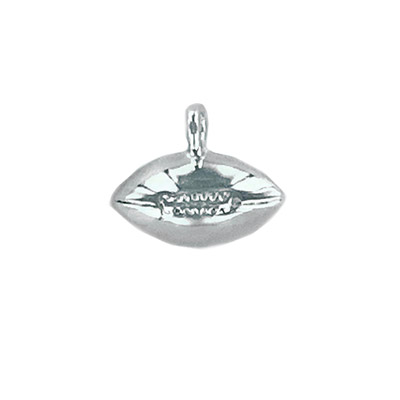 Sterling silver .925 pendant, football charm