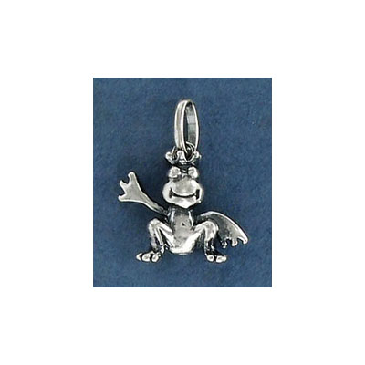 Sterling silver .925 pendant, frog charm