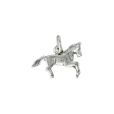 Sterling silver pendant charm horse 16x12mm .925
