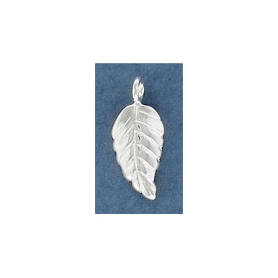 Sterling silver .925 pendant, 18mm, leaf charm