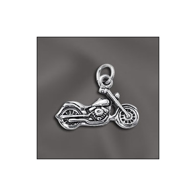 Sterling silver .925 pendant, motorcycle charm