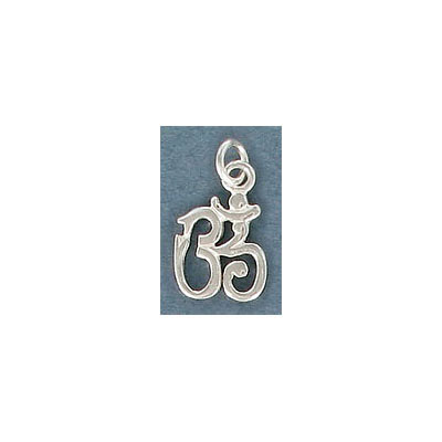 Sterling silver .925 pendant, 15x10mm, OM charm
