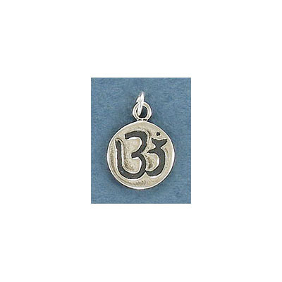 Sterling silver .925, 12.5mm, OM pendant charm