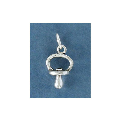Sterling silver .925, pacifier charm, 11x12mm