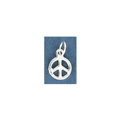 Sterling silver .925 pendant, 8mm, peace sign charm