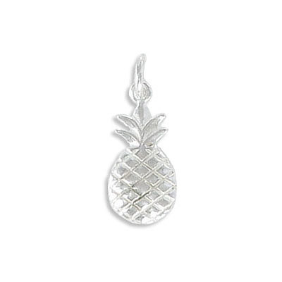 Sterling silver .925 pendant, 12x8mm, pineapple charm