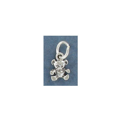 Sterling silver .925 pendant, 9mm, teddy bear charm
