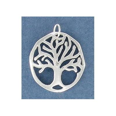 Sterling silver .925 pendant, 22mm, tree of life charm