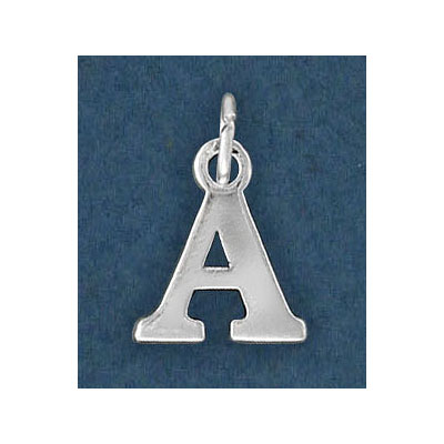 Sterling silver .925 pendant, letter charm (A), 12mm
