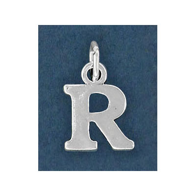 Sterling silver .925 pendant, letter charm (R), 12mm