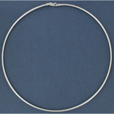 Sterling silver necklace twisted cable link 40cm 16 inch with lobster (width 2mm) .925