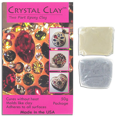 Crystal clay, 2 part epoxy, silver, 50 grams