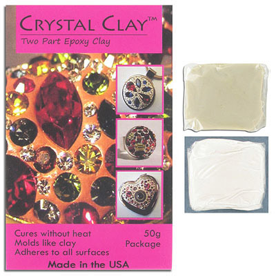 Crystal clay, 2 part epoxy, white, 50 grams
