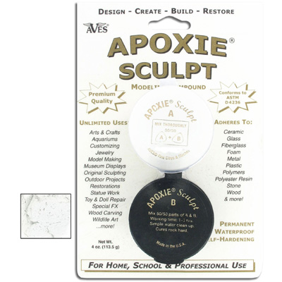 Apoxie sculpt, 1/4lb, super white