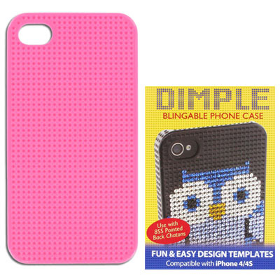 Pink iphone 4/4s case for pp17 stones