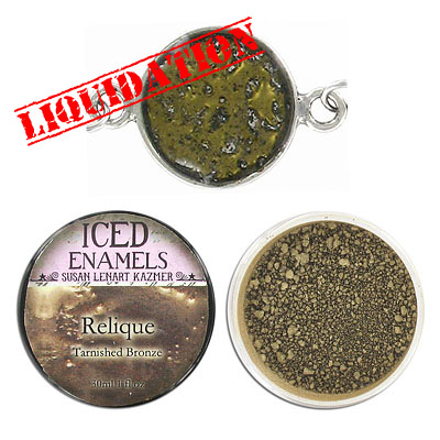 Iced enamel relique powder, 15ml, bronze