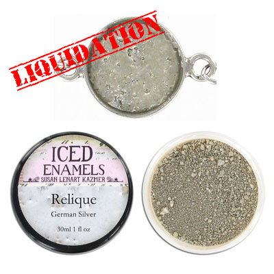Iced enamel relique powder, 15ml, German silver