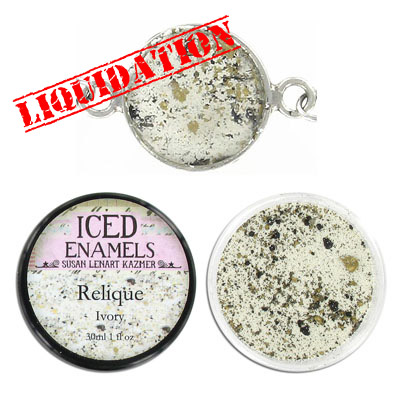 Iced enamel relique powder, 15ml, ivory
