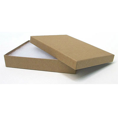 Jewelry gift box, 5x3, kraft brown