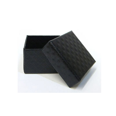 Jewelry gift box with pattern, 5x5cm, black