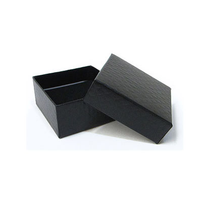 Jewelry gift box with pattern, 7.5x7.5cm, black
