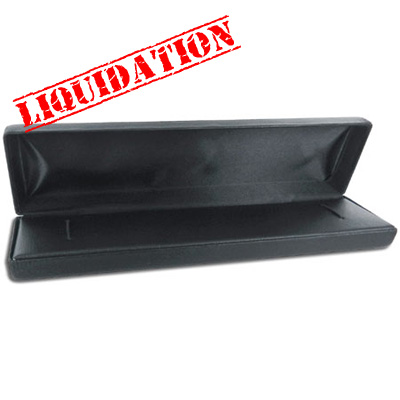 Jewelry bracelet box, 8x2cm (3.150.78), black leatherette