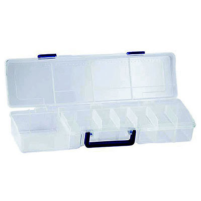 Storage organizer with 16 compartments and removable insert tray, 19.5x5.5x3.6 inch
