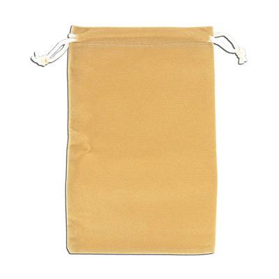 Jewelry pouch gift bag, 12x18cm, velour, beige