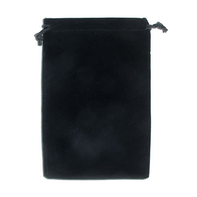 Jewelry pouch gift bag, 12x18cm, velour, black