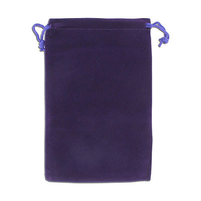 Jewelry pouch gift bag, 12x18cm, velour, purple