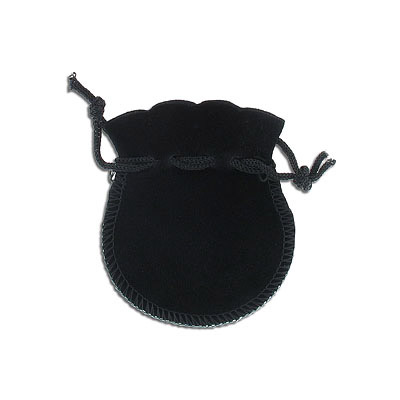 Jewelry pouch gift bag, 6x8cm, velour, black