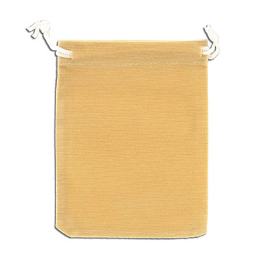 Jewelry pouch gift bag, 9x12cm, velour, beige