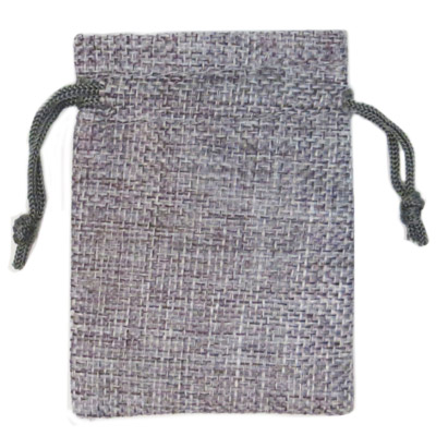 Jewelry pouch gift bag, 3.5x2.75 inches, hemp, grey