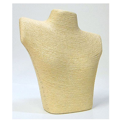 Bust display, knitted, 26x29cm, beige