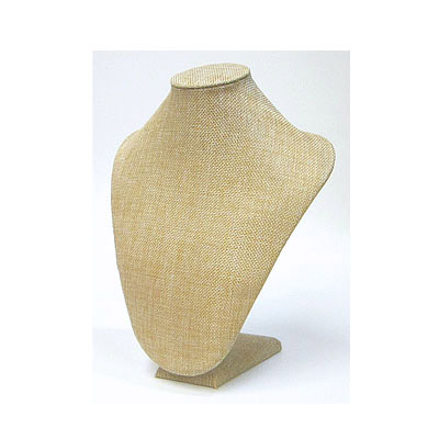 Neck display, burlap, 20x30cm, beige