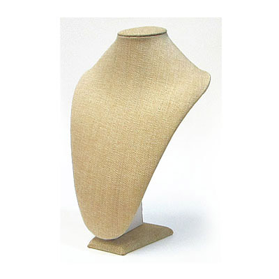 Neck display, burlap, 23x33cm, beige