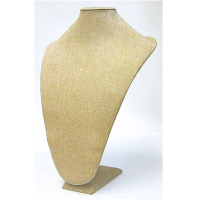 Neck display, burlap, 26x36cm, beige