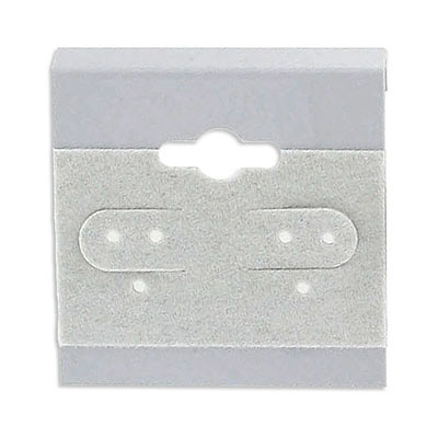 Earrings card display, 1.5x1.5 inch, grey