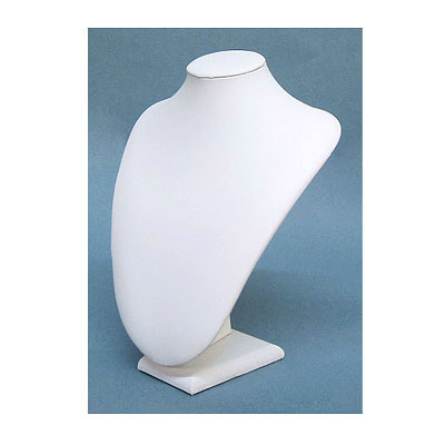 Neck display, leatherette, 20x30cm, white