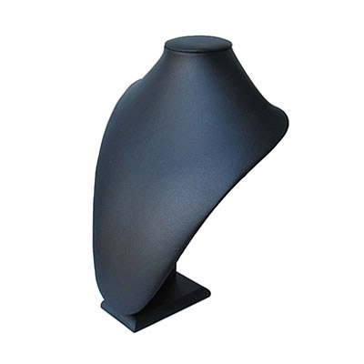 Neck display, leatherette, 23x33cm, black