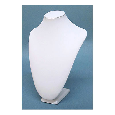 Neck display, leatherette, 23x33cm, white