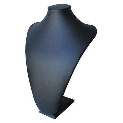 Neck display, leatherette, 26x36cm, black