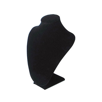 Neck display, velveteen, 20x30cm, black