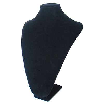 Neck display, velveteen, 26x36cm, black