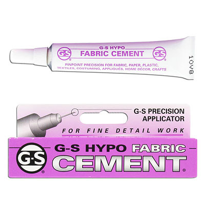 Fine tip fabric cement